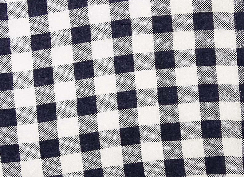 White Fabric Craft Fabric 50 Inch Cotton Fabric By The Yard ZBC7934B Check Print Dress Material Sewing Decor