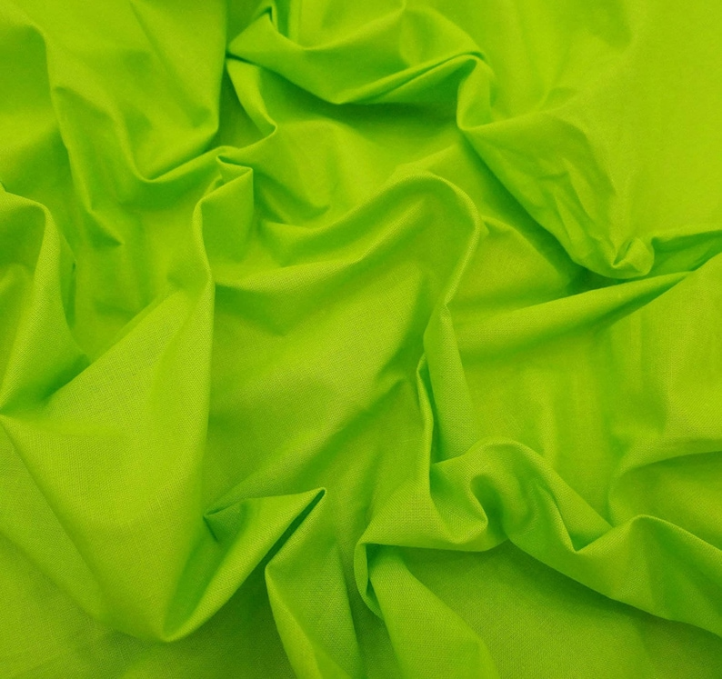 42 Inch Cotton Fabric By The Yard PZBC9J Sewing Crafts Accessories Fluorescent Green Fabric Dress Fabric Indian Decor