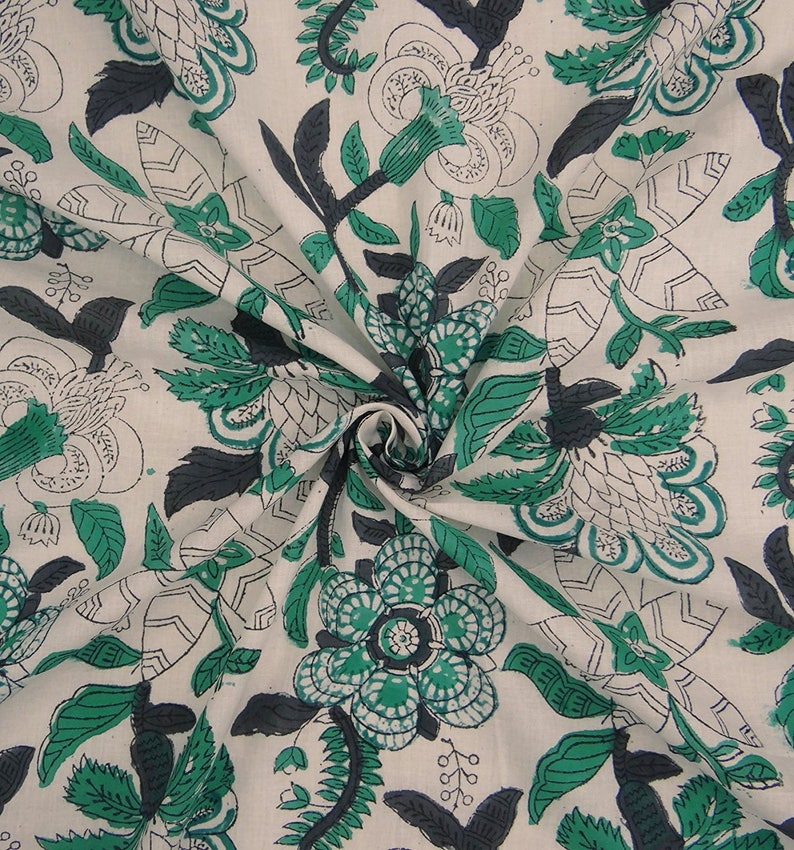 42 Inch Fabric By The Yard ZBC8650A Off White Fabric Home Decor Cotton Fabric Craft Fabric Dress Material Designer Fabric Floral Print