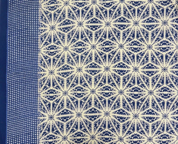 Craft Tie Dyed Print Navy Blue Fabric Upholstery Fabric Etsy