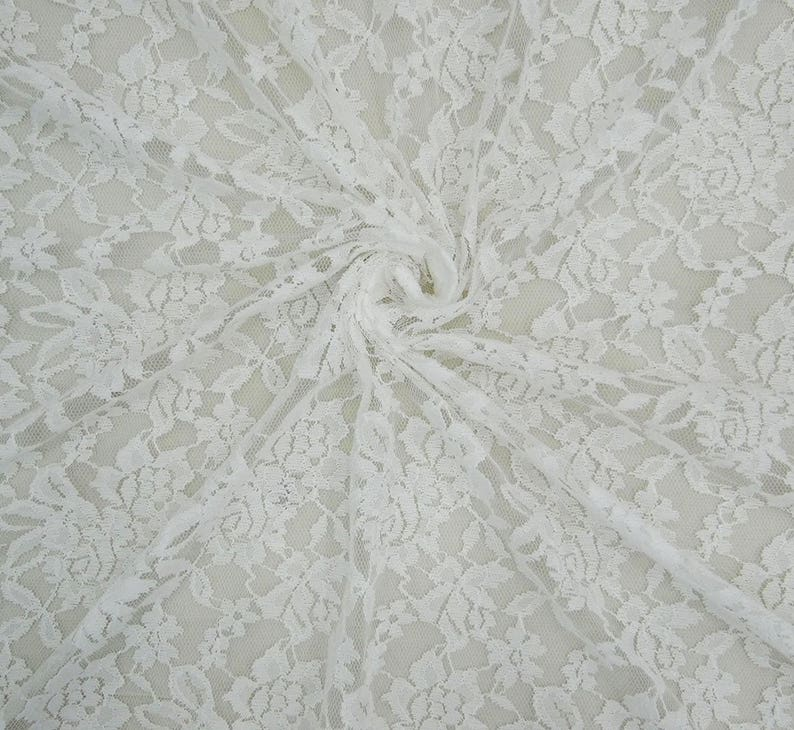 Dress Material Floral Designer Net Lycra Fabric Sewing Supplies White Fabric 65 Inch Fabric By The Yard ZBD220A
