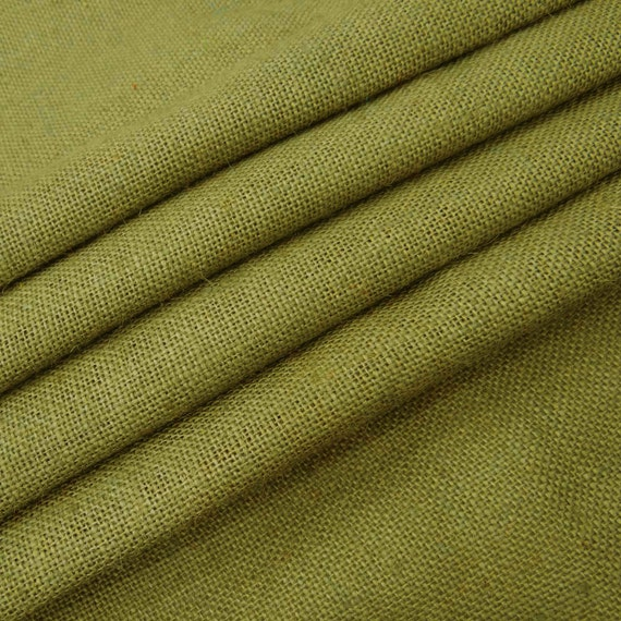 olive green natural jute fabric home accessories olive green etsy
