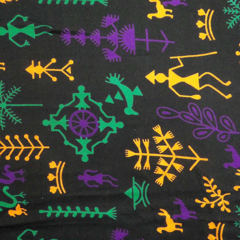Home Decor Fabric Tribal Print Black Fabric Dress Material
