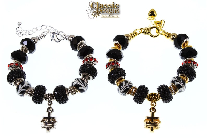 Ladies of Knight Templar - Cyrene Crusaders European Charm Bracelet in  Silver and Gold, Cross and Crown Charm, York Rite Ladies, Customize