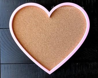 Standard Heart Corkboard | Pink, Black, White, Merlot, or Seafoam | ShopPixieExpress PixieExpress