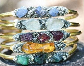 Birthstone Bracelets, Birthstone Jewelry, Gemstone, Sapphire, Opal, Citrine, Turquoise, Garnet, Amethyst, Aquamarine, Herkimer Diamond, Gift
