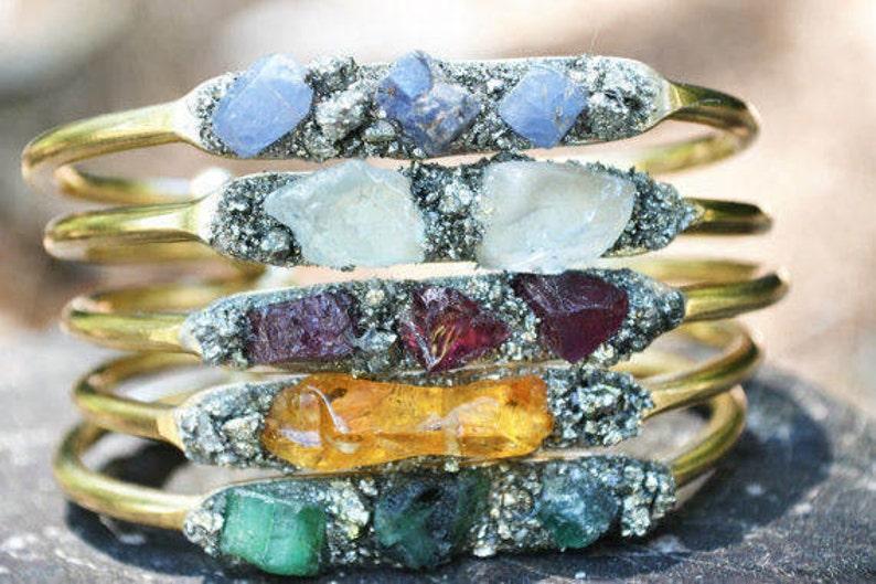 Birthstones Bracelet with Natural Gemstones Mothers image 0
