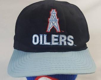 Vtg Houston Oilers Reastport snapback hat cap NFL merch 1a6cc7e97db4