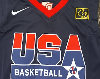 Vtg #9 Michael Jordan Olympic Jersey Team USA Basketball Sz Med