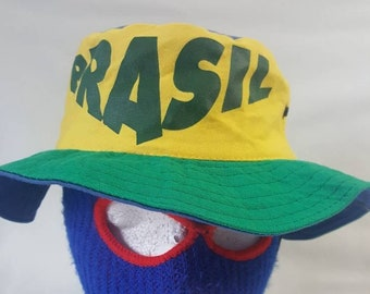 Vtg Brazil Bucket hat dbb668b5e069