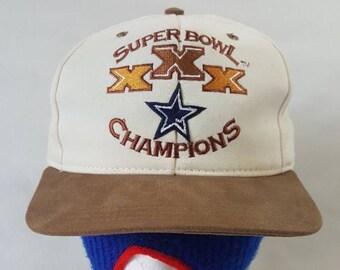 5d6f27ba011 Vtg AJD Dallas Cowboys Superbowl XxX Snapback hat cap