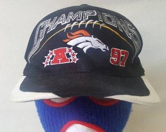 f6e1662238282e Vtg Denver Broncos 1997 AFC Champions Sports Specialties snapback hat cap  Retro John Elway Super Bowl