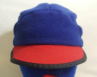 9b8a39e535a8da Vintage Patagonia Fleece strapback Winter ski cap with ear flaps