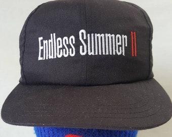 162cd58b7a2 Vtg 90s endless summer 2 film crew black snapback surfing beach