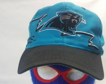 72df4da1c13 Vtg Carolina Panthers logo 7 snapback hat Pro Line cap