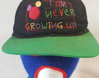 Vtg Disney I am never growing up Goofy hat co . Snapback hat made in USA abc527947e0