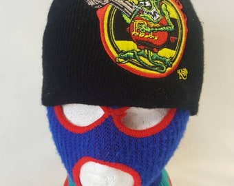 cb12b345a1e Rat Fink Motor Works skullie beanie winter hat matco tools Ed Roth