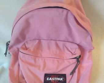 34d3e458519 Vtg 90s Eastpak Backpack pink Bookbag made in USA 16x12