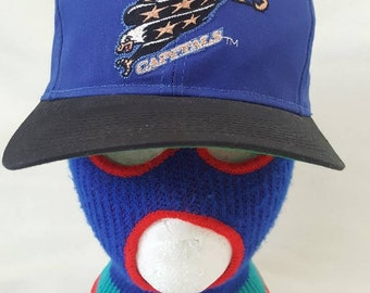 d6ae3cd355e Vtg Washington Capitals NHL G Cap Snapback hat blue flying Eagle Hockey  Alex Ovechkin