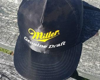 Vtg Miller Genuine Draft snapback hat cap K Brand Promotions made in usa b6146fca50e0