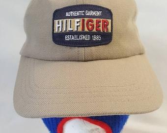 2e000183c Vtg Tommy Hilfiger Strapback dad hat est. 1985