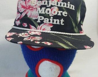 f658bf26 Vtg Benjamin Moore Paint Floral snapback hat