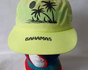 5b049ea2 Vintage 80s Bahamas snapback hat cap Retro neon SALE