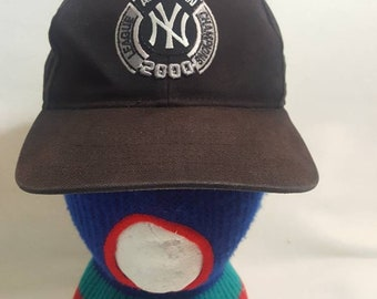on sale 15444 9506f Vtg New York Yankees 2000 AL Champions new era black dad hat cap MLB