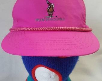 Vtg Palm Beach Polo snapback hat Golf Cap 0fea657c14bb