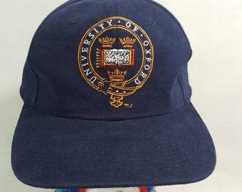 f35b9fe556eb5 Vtg Oxford University snapback hat cap England