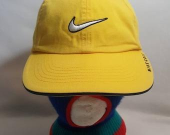 b6d0f7043be982 Vtg Nike Golf Swoosh dad hat strapback hat cap