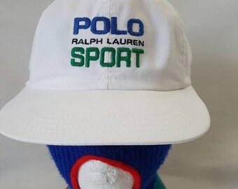 Vtg Polo Sport buckle strapback dad hat Ralph Lauren RL made in USA 4729857d78c1