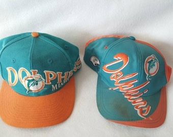 Vtg Miami Dolphins logo 7 x apex one snapback hats lot f25621c38