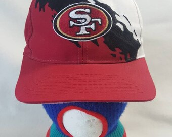 c42867b3 Vtg Logo 7 SF 49ers paint splash snapback Hat San Francisco