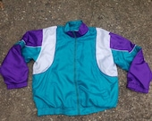 80s Windbreakers, Jackets, Coats Vtg 90s AST Satin windbreaker set Jacket  windbreaker Size  XL $29.99 AT vintagedancer.com