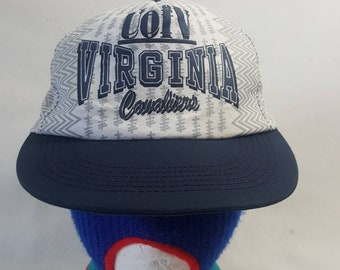 a3f4ddc177423 Vtg 90s UVA University of Virginia College snapback hat cap Front Row Sports  national champs
