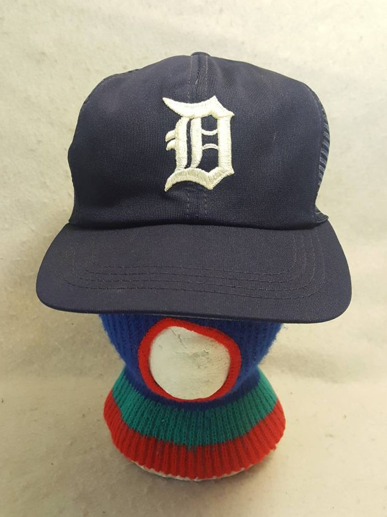 80s Vtg Detroit Tigers trucker  Magnum P.I. Trucker snapback image 0