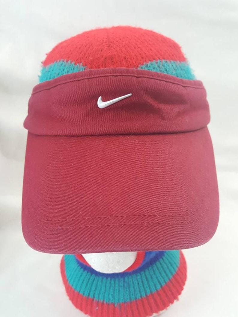 794f0b7559d Vintage Nike Swoosh Visor hat white   whine cap