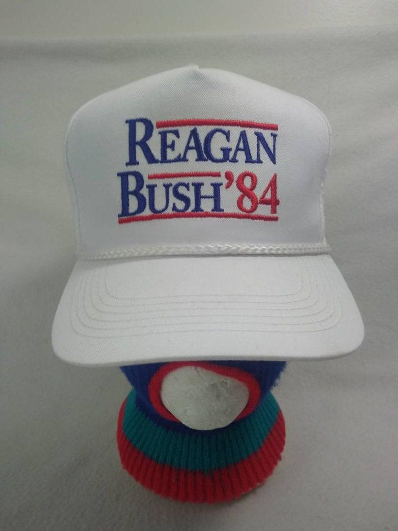Retro  Reagan Bush 1984  snapback politician Republicans image 0
