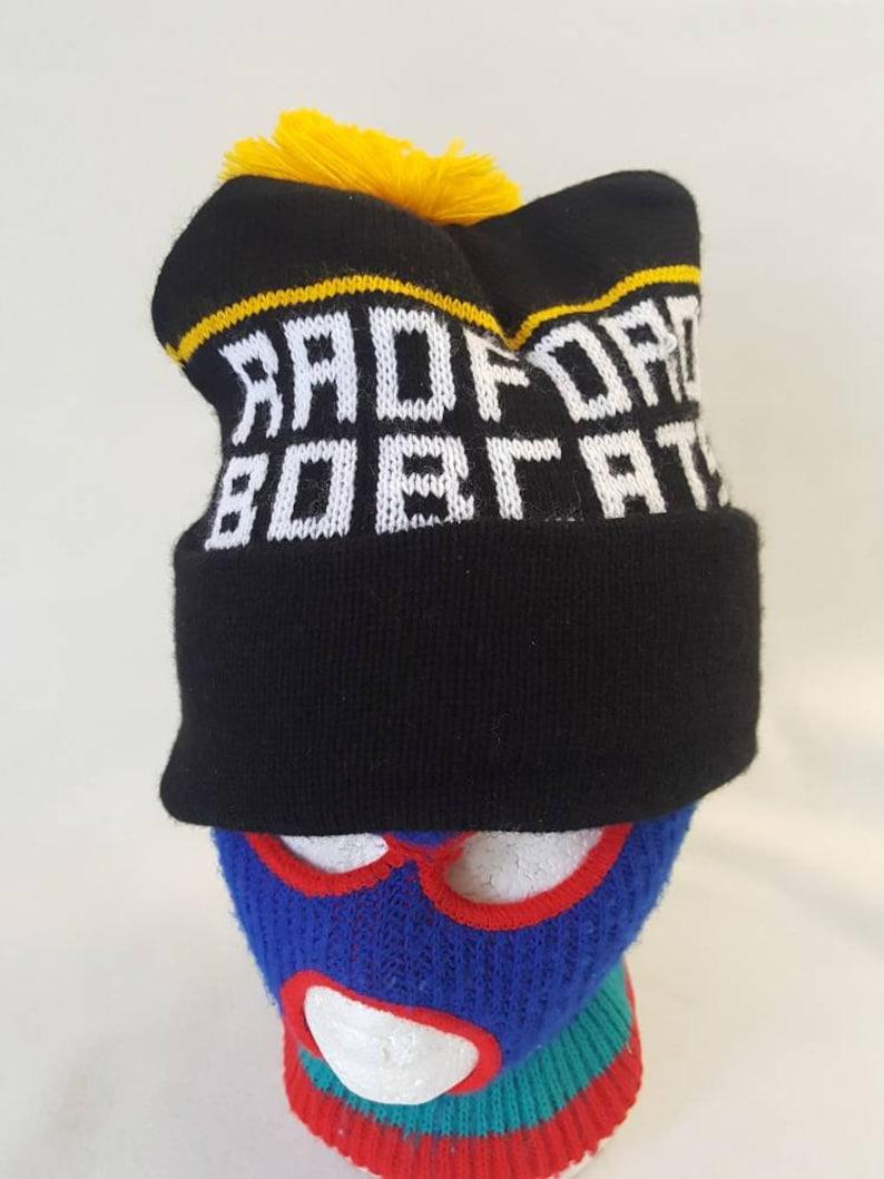 10c80a453e7 Vtg Radford Bobcats Beanie hat cap w   pom 70s 80s