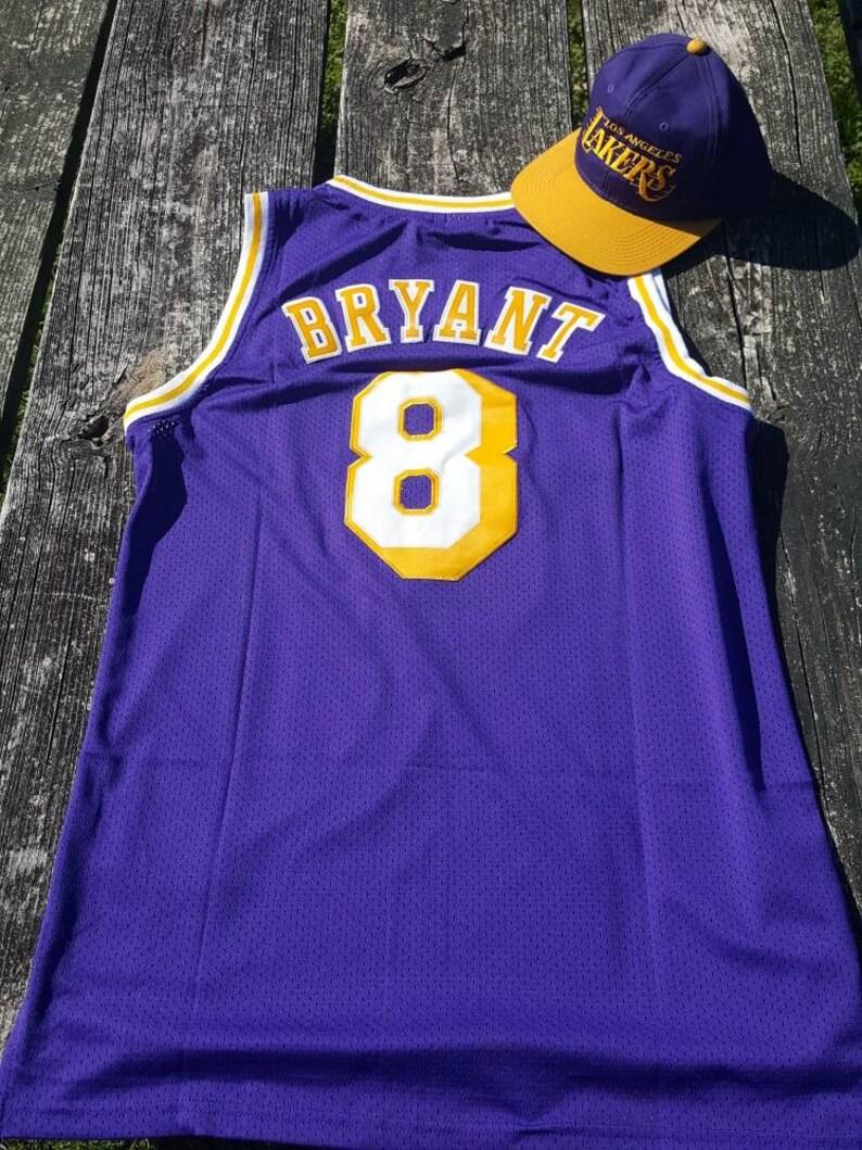 fe97af6d8 Los Angeles Lakers Retro Kobe Bryant 8 Adidas Jersey Vintage
