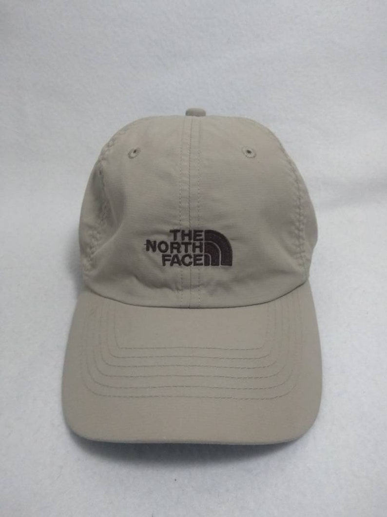 Vtg  The North Face buckle Strapback beige dad hat  cap image 0