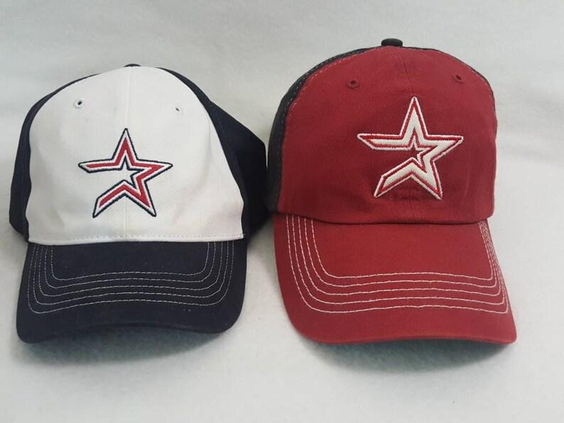 Vtg Houston Astros dad hat father son lot bundle MLB image 0