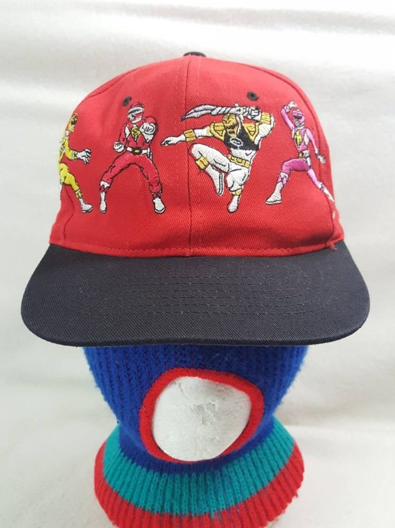 Vtg Mighty Morphin Power Rangers Live   Snapback Youth image 0