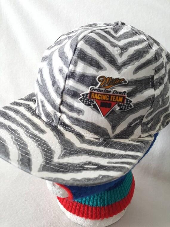 d10e1ce07bf Vtg Miller Genuine Draft Racing Zubaz snapback hat cap