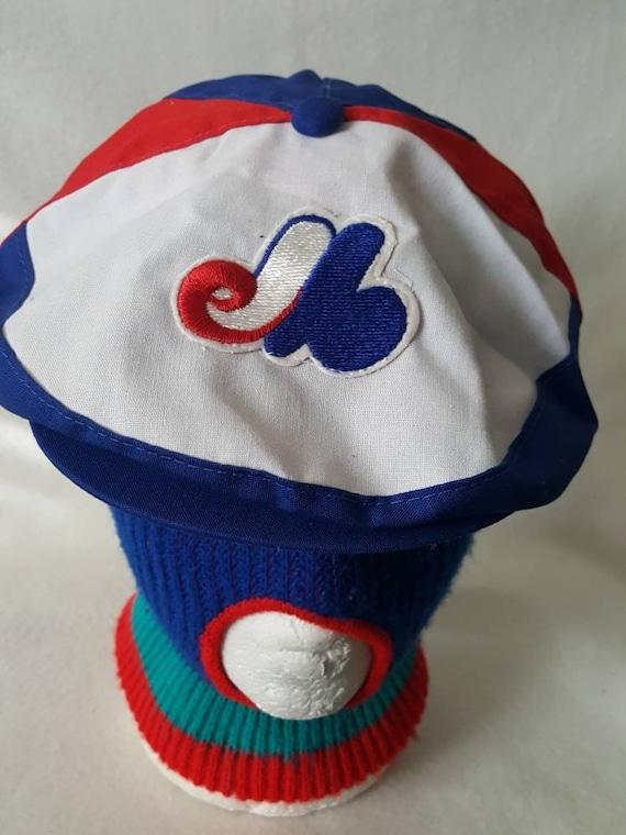 Vtg Montreal Expos Newsboy snapback hat MLB cap  6d27c60d949e