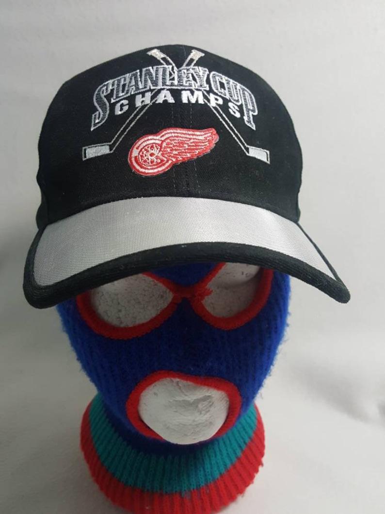 Vtg Detroit Red Wings Starter  Strapback Dad Hat 1998 image 0
