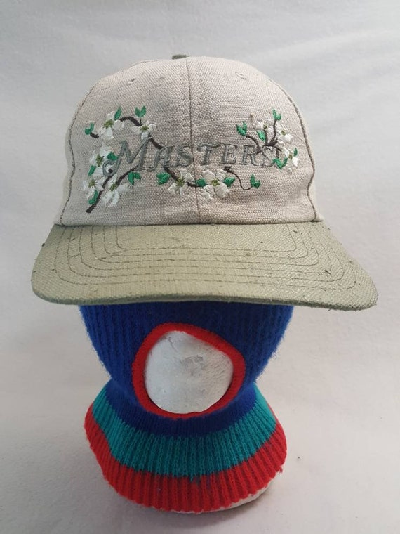 687380f1bee Vtg American Needle The Masters Augusta National Beige dad