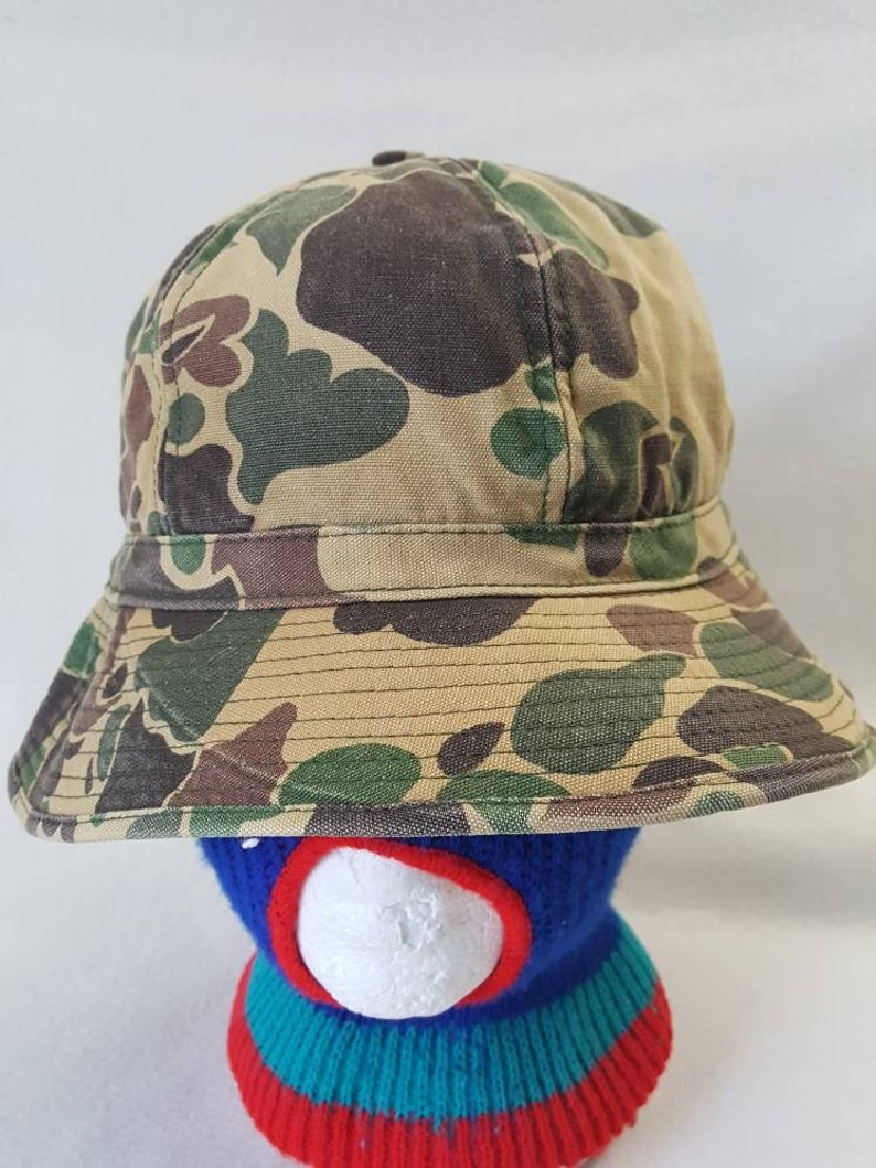 Vintage Camo Made in USA Sears Roebuck   Bucket hat cap image 0
