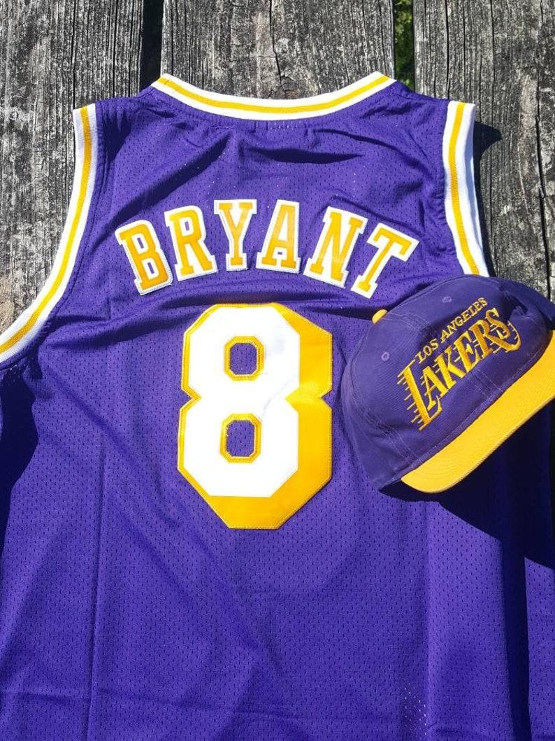 148cb3ded2a Los Angeles Lakers Retro Kobe Bryant 8 Adidas Jersey Vintage